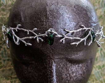 Woodland Crown - Elven Circlet - Fairy Crown - Chain Tiara - Chain Headpiece