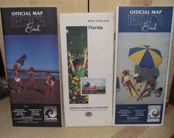 Vintage 1980s Daytona Beach FL Maps