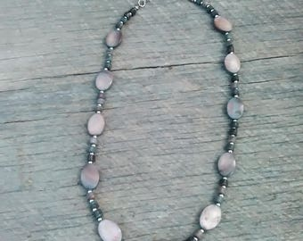 Chaps Dark Mother of Pearl Necklace, Inv.# 142
