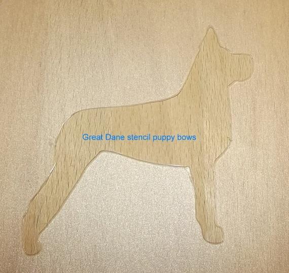 Puppy Bows ~ Great Dane dog breed plastic craft stencil