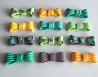 Bow Tie Fondant Cupcake Toppers Cake Decorations