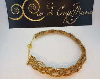 Gold Capim Jewel Necklace Eco-sustainable