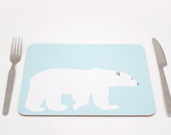 Polar Bear Placemats | Bear Placmeat | Polar Bear Tablemat | Bear tablemat | Childrens placemat | Kids placemat