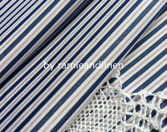 """silk fabric,  neat stripes weaved silk cotton blend fabric, one yard by 59"""" wide"""