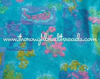 "Island Bright - Mod Vintage Fabric  60s 38"" New Old Stock Tropical Batik Look"