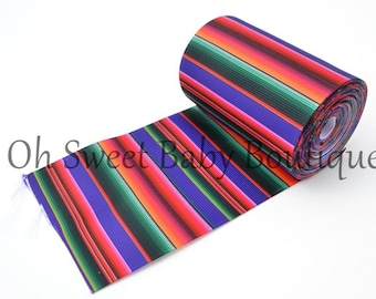 "Purple Serape Zarape Mexican Blanket 3"" Ribbon 5 Yards Fiesta"