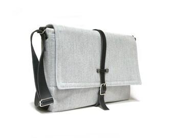 Ultimate Stash laptop messenger bag - light gray