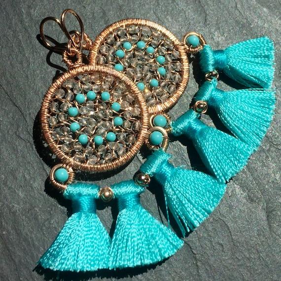 Carnival Earrings in Turquoise