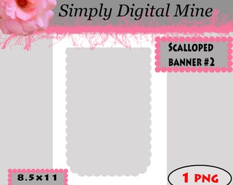 YOU Design!!! Scalloped Banner #2 Template !!