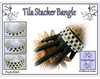 Tila Beading Pattern, Tutorial, Bangle - TILA STACKER