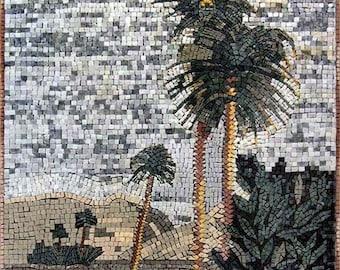 Plam Trees Mosaic Art