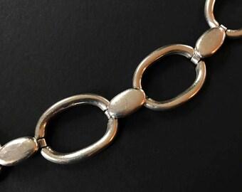 Sterling Silver Bracelet, Oversized Link Modern Design
