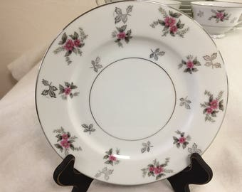 """Dinner Plate from Japan's """"Rosemere"""" Pattern"""