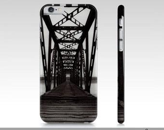 Bridge Art iPhone Case, Black White Fine Art iPhone 6 Case, iPhone 6 Case, Black And White Train Bridge Phone Case, iPhone 6 Accessories