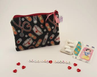 Mini Trousse pharmacie (médicaments et pansements) sac à main