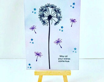 May All Your Wishes Come True Card, Encouragement Card, Inspirational Card, Inspiring Card, Graduation Card, Wishing Card,