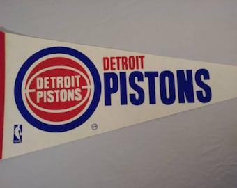 Vintage NBA Detroit Pistons Pennant Banner/ Flag