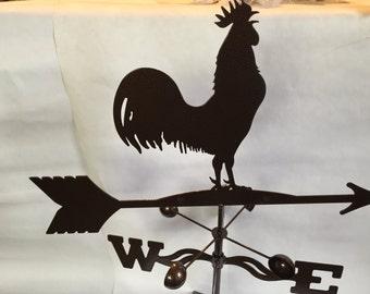 Metal  Rooster Wind Vane, Garden Decor, Garden Art,