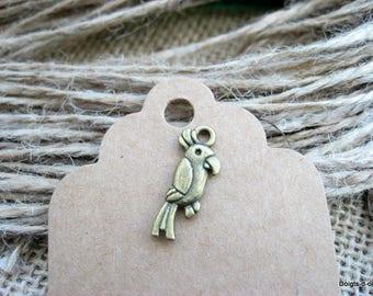 bronze jewelry bird Parrot charm charm