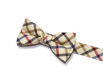 Boys Bow Tie~Easter Bow Tie~Summer Bow Tie~Boys Plaid Bow Tie~Ring Bearer Tie~Wedding Bow Tie~Boys Gift~HoBo Ties~Multi Windowpane Bow Tie