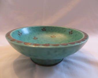 Swedish Brass Inlaid Bowl