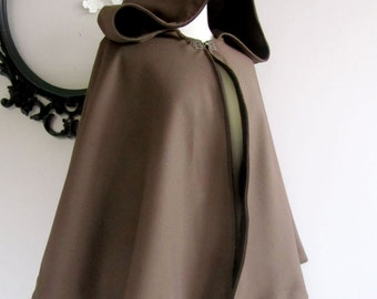 Hooded Wool Cape Womens Hooded Cape Womens jacket Hip Length cape choose from colors