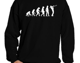 Trombone Sweatshirt, Trombone Sweater, Trombone Long Sleeve Shirt, Jazz Sweatshirt, Jazz Sweater, Jazz Long Sleeve for Men and Women