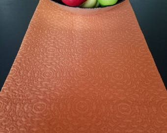 Orange, burnt orange, tablecloths, table runner, Matelasse fabric, Quilted, centerpiece runner