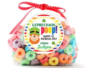 Personalized Stickers Leprechaun Poop St. Patricks Day Party Stickers, Party Circle Stickers, St Patricks Day Stickers, Leprechaun Poop Tag