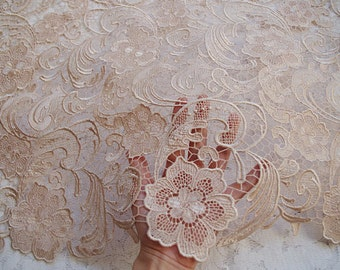 champagne lace fabric
