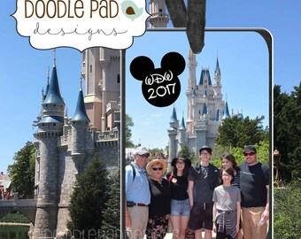 Personalized Disney Photo Ornament, Walt Disney World Vacation Souvenir