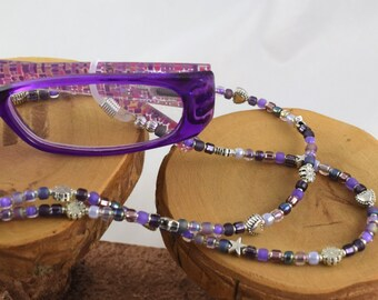 Napa Grapes rich purple eyeglass sunglass handcrafted beaded chain never lose your glasses again!
