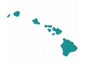 USA State Hawaii Fill Machine Embroidery DESIGN NO. 363