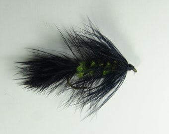 3 Wooly Bugger Streamer Size 8 Trout Fly, olive and Black
