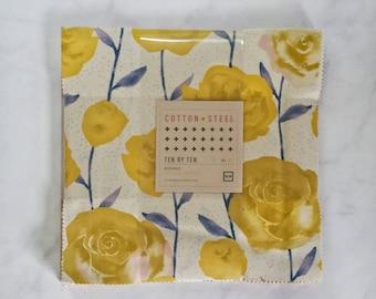 Cotton + Steel Firelight - Ten by Ten Charm Pack - 10 × 10 Inches Square Bundle - Fabric Precut Bundle