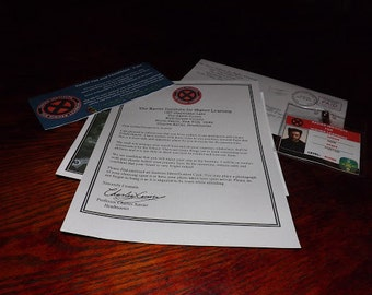 X-Men / Xavier Institute of Higher Learning Acceptance Letter Package
