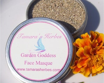Garten Göttin Gesicht Maske Probe
