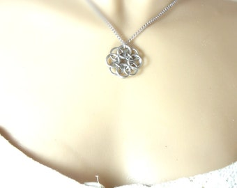 Celtic Knot Necklace Handmade In Chainmaille