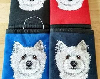Embroidered Westie, West Highland Terrier Wallets