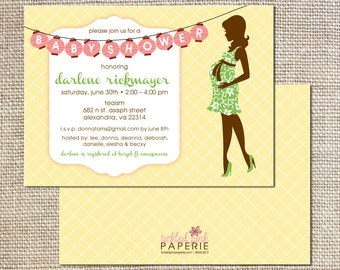 Baby Shower Invitation sophisticated tea party neutral colors
