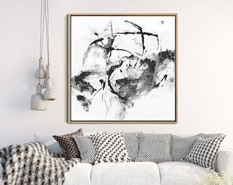 Abstract Art Print, Contemporary Art, Modern Wall Art, Black And White Art, Minimalist Art Print, Giclee Print, Home Decor, Wall Decor