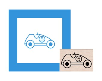 Racecar Rubber Stamp