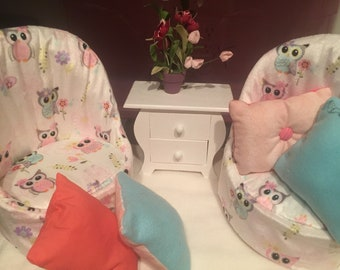 Chairs Set For All Sizes Of American Girl Dolls