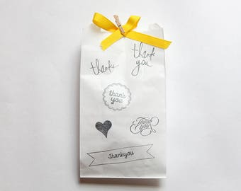 THANK YOU FAVOUR bags, thank you party bags, paper party bags, thank you favors, thank you favours, candy buffet bags, lolly buffet bag x 10