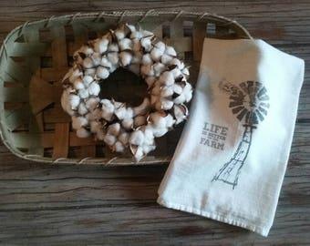 Windmill Farmhouse Flour Sack Towel