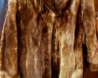 vintage women's Perlstein Fur Co. coat size 8 St. Louis, MO long sleeve collared