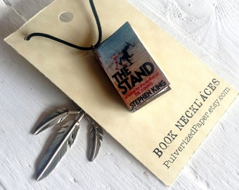 Mini Book Necklace - Stephen King's The Stand - Horror Fan Gift - Handmade Gift for Book Lover - Made to Order