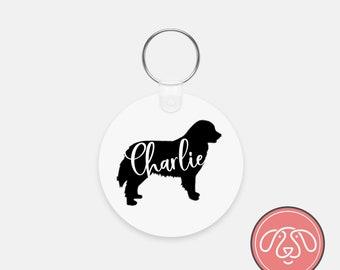 Personalized Bernese Mountain Dog Keychain