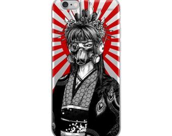 design geisha girl asian original cyberpunk  iPhone Case