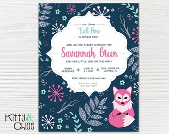 Baby Shower Invitation, 5x7 or 6x9